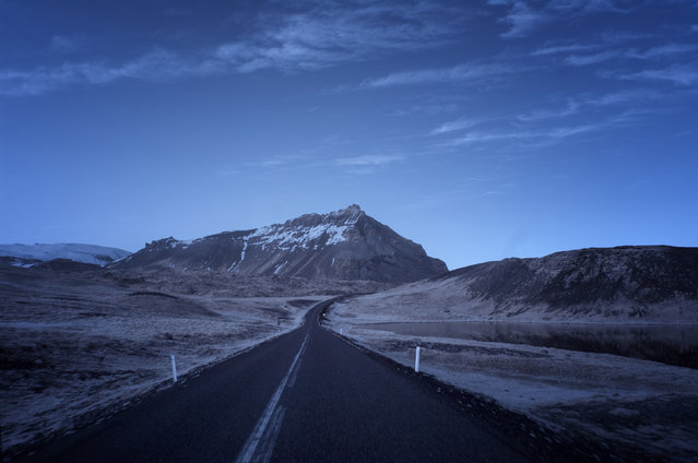A lonely road through Iceland. (Photo by Andy Lee/Caters News)