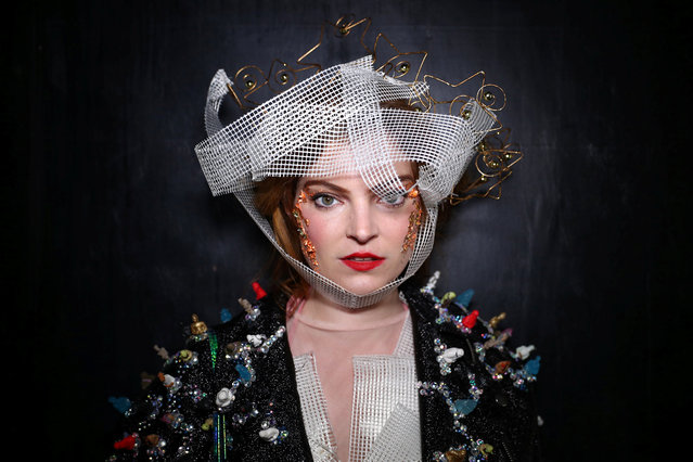 Fashion enthusiast Sophie Cochevelou poses for a portrait during London Fashion Week in London, Britain, September 15, 2018. (Photo by Hannah McKay/Reuters)