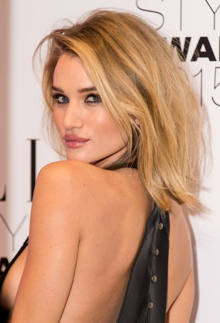 Rosie Huntington-Whiteley attends the Elle Style Awards 2015 at Sky Garden @ The Walkie Talkie Tower on February 24, 2015 in London, England. (Photo by Ian Gavan/Getty Images)