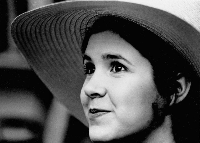 "Carrie Fisher, 16-year-old daughter of Debbie Reynolds and Eddie Fisher, is pictured in New York, May 2, 1973. Carrie Fisher who played Princess Leia in the original ""Star Wars"" died Tuesday, December 27, 2016 after heart attack on flight from London to LA on Friday. She was 60. (Photo by Jerry Mosey/AP Photo)"