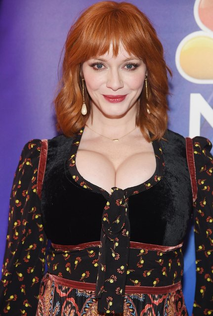 Christina Hendricks attends NBC's New York Mid Season Press Junket at Four Seasons Hotel New York on January 24, 2019 in New York City. (Photo by Jamie McCarthy/Getty Images)