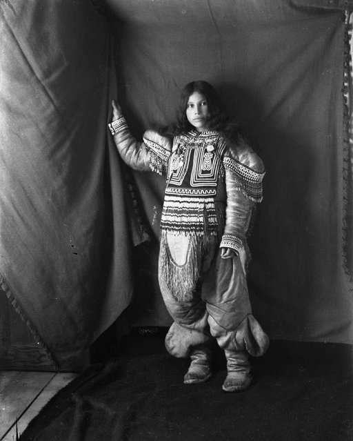 Moodie was born in 1854 in Toronto, and after a move to England she met and married John Douglas Moodie in 1878, and had six children. Here: Inuit woman, Kootucktuck, in her beaded attigi. Fullerton Harbour, Nunavut, February 1905. (Photo by Geraldine Moodie/The Guardian)