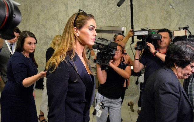 Former White House Communications Director Hope Hicks departs at the conclusion of her closed door interview at the House Judiciary Committee, after almost seven hours of questioning, Washington, DC, U.S., June 19, 2019. (Photo by Mike Theiler/Reuters)