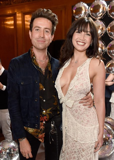 Daisy Lowe and Nick Grimshaw attend the Tinder Pride 2017 Party at The Ned on July 1, 2017 in London, England. (Photo by David M. Benett/Dave Benett/Getty Images for Tinder)