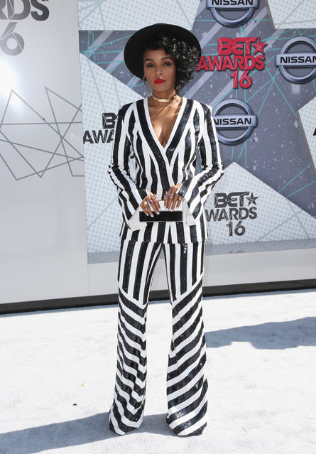 Singer Janelle Monae attends the 2016 BET Awards at the Microsoft Theater on June 26, 2016 in Los Angeles, California. (Photo by Frederick M. Brown/Getty Images)