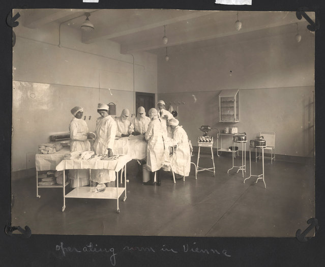The operating room at the Vienna Red Cross Hospital. (Photo by Dr. P.A. Smithe/National World War I Museum, Kansas City, Mo.)
