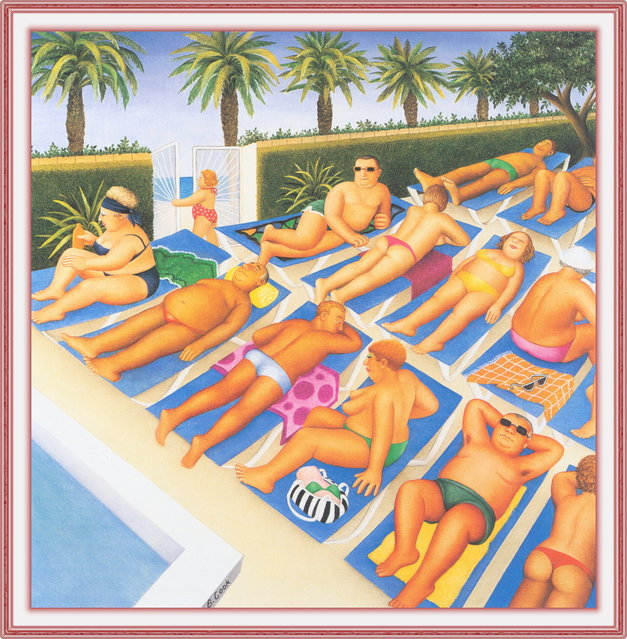 Tenerife Days. Artwork by Beryl Cook