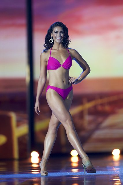 Miss Massachusetts Meagan Fuller competes in the swimsuit competition during the first night of preliminaries of Miss America at Boardwalk Hall in Atlantic City, New Jersey, September 8, 2015. (Photo by Mark Makela/Reuters)