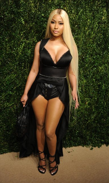 Nicki Minaj attends the 14th Annual CFDA Vogue Fashion Fund Gala at Weylin on Monday, November 6, 2017, in New York. (Photo by MediaPunch/Rex  Features/Shutterstock)
