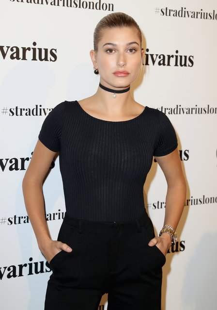 Hailey Baldwin attends the Stradivarius The Event Paper exclusive cocktail party hosted by model Hailey Baldwin at their flagship store on Oxford Street ahead of London Fashion Week on September 15, 2016 in London, England. (Photo by Chris Jackson/Getty Images)
