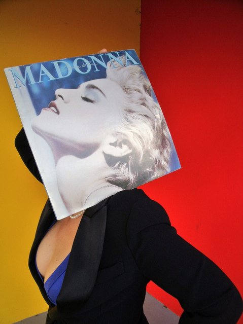 """""""s*xy Madonna True Blue Sleeveface"""". (Photo by Seigar)"""