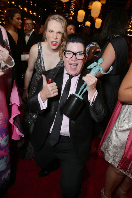 Emma Myles and Lea DeLaria seen at People and EIF's Annual Screen Actors Guild Awards Gala at Shrine Auditorium on Saturday, January 30, 2016, in Los Angeles, CA. (Photo by Eric Charbonneau/Invision for People/AP Images)