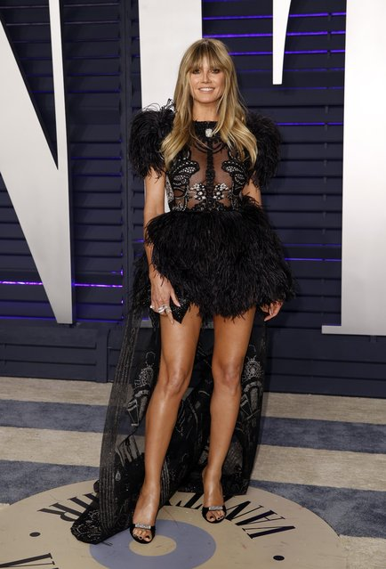 Heidi Klum attends the 2019 Vanity Fair Oscar Party Hosted By Radhika Jones at Wallis Annenberg Center for the Performing Arts on February 24, 2019 in Beverly Hills, California. (Photo by Danny Moloshok/Reuters)