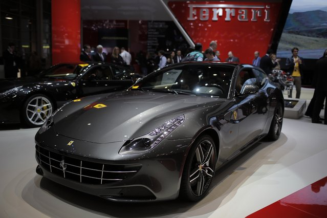 The Ferrari FF is seen during the media day of the 84th Geneva International Motor Show, Switzerland, Tuesday, March 4, 2014. (Photo by Laurent Cipriani/AP Photo)