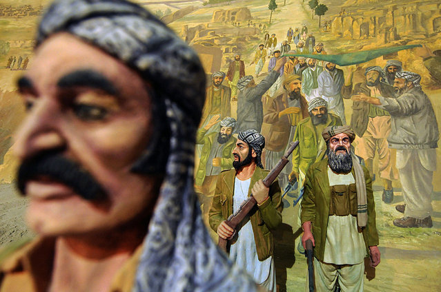 Detail of a tableau depicting Afghan fighters during the Soviet invasion of Afghanistan in the Jihad Museum, on August 8, 2009. (Photo by Shah Marai/AFP Photo via The Atlantic)
