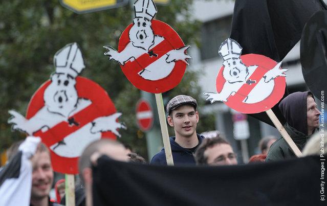 Activists Protest Upcoming Pope Benedict XVI Visit
