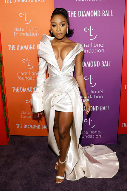 Normani attends the 5th Annual Diamond Ball benefiting the Clara Lionel Foundation at Cipriani Wall Street on September 12, 2019 in New York City. (Photo by Taylor Hill/WireImage)