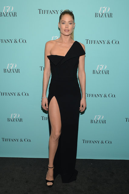Model Doutzen Kroes attends Harper's BAZAAR 150th Anniversary Event presented with Tiffany & Co at The Rainbow Room on April 19, 2017 in New York City. (Photo by Andrew Toth/Getty Images for Harper's BAZAAR)