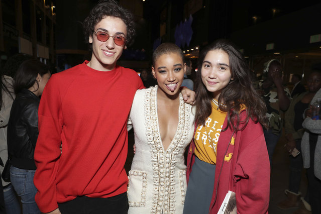 """Anika Noni Rose and Amandla Stenberg seen at Warner Bros. Pictures and Metro-Goldwyn-Mayer Pictures """"Everything, Everything"""" Special VIP Screening on Saturday, May 6, 2017, in Los Angeles. (Photo by Eric Charbonneau/Invision for Warner Bros./AP Images)"""