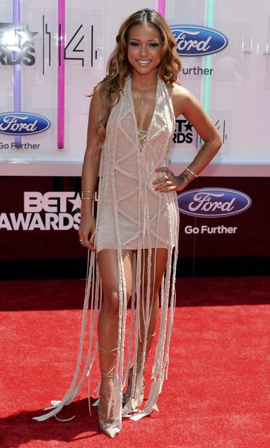 Karrueche Tran arrives at the 2014 BET Awards in Los Angeles, California June 29, 2014. (Photo by Kevork Djansezian/Reuters)