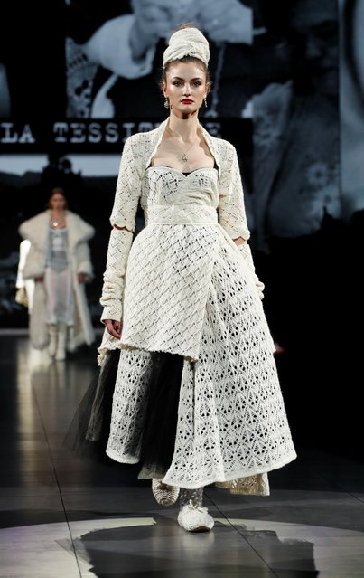 A model presents a creation from the Dolce & Gabbana Autumn/Winter 2020 collection during Milan Fashion Week in Milan, Italy on February 23, 2020. (Photo by Alessandro Garofalo/Reuters)
