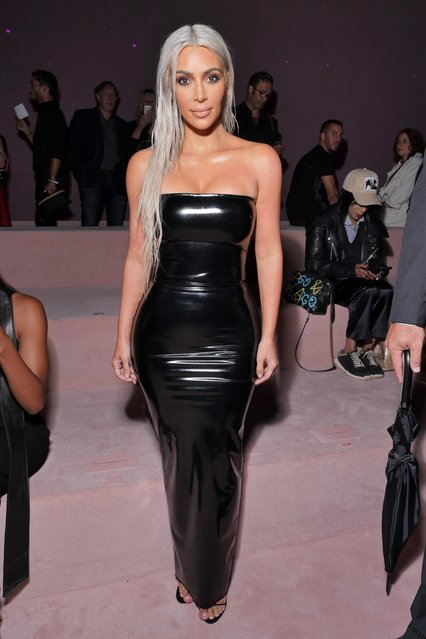 Kim Kardashian attends the Tom Ford Spring/Summer 2018 Runway Show at Park Avenue Armory on September 6, 2017 in New York City. (Photo by Swan Gallet/WWD/Rex Features/Shutterstock)