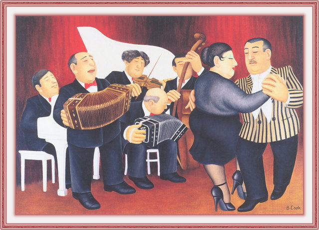 Tango Band. Artwork by Beryl Cook