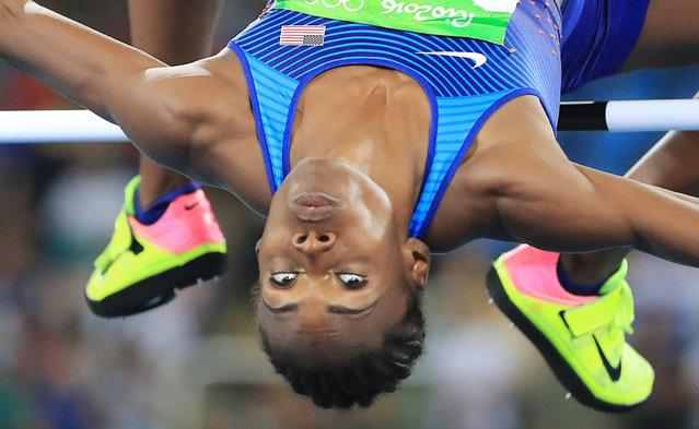 2016 Rio Olympics, Athletics, Final, Women's High Jump Final, Olympic Stadium, Rio de Janeiro, Brazil on August 20, 2016. Chaunte Lowe (USA) of USA competes. (Photo by Dominic Ebenbichler/Reuters)