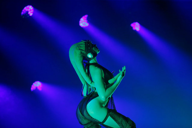 """A performer dances during """"The Empire Strips Back: A Star Wars Burlesque Parody"""" in Los Angeles, California, U.S., June 1, 2018. (Photo by Mario Anzuoni/Reuters)"""