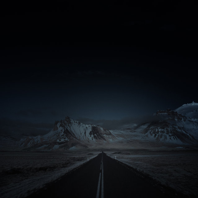 Heading north through Borgarnes, Iceland. (Photo by Andy Lee/Caters News)