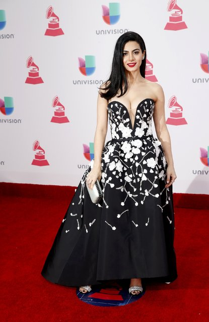 Actress Emeraude Toubia arrives at the 17th Annual Latin Grammy Awards in Las Vegas, Nevada, U.S., November 17, 2016. (Photo by Steve Marcus/Reuters)