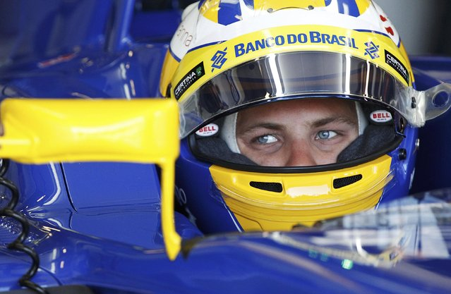 Sauber Formula One driver Marcus Ericsson of Sweden sits in his car during the second practice session of the Australian F1 Grand Prix at the Albert Park circuit in Melbourne March 13, 2015.   REUTERS/Brandon Malone