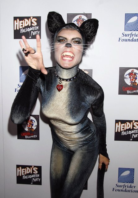 Model Heidi Klum attends her 8th Annual Halloween Party at The Green Door on October 31, 2007 in Los Angeles, California. (Photo by Charley Gallay/Getty Images)