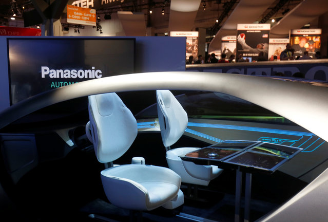 A mock-up of an autonomous car interior is shown at the Panasonic booth during the 2017 CES in Las Vegas, Nevada, January 5, 2017. (Photo by Steve Marcus/Reuters)