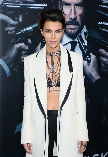 """Ruby Rose attends the premiere of Summit Entertainment's """"John Wick: Chapter Two"""" on January 30, 2017 in Hollywood, California. (Photo by JB Lacroix/WireImage)"""