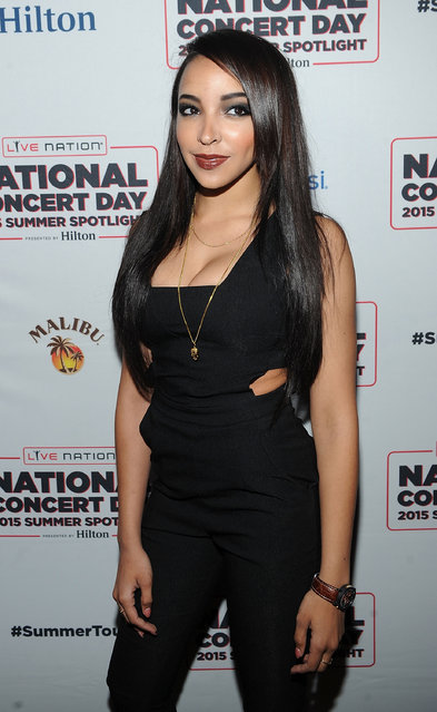 Musician Tinashe poses for a photo at National Concert Day Tuesday, May 5, 2015, in New York. (Photo by Brad Barket/Invision/AP Photo)