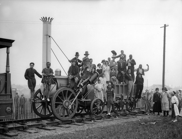 Railway centenary and pageant at Liverpool, 10th September 1930. (Photo by Fox Photos/Getty Images)