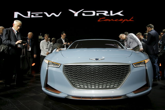 The 2017 Genesis New York Concept is seen during the media preview of the 2016 New York International Auto Show in Manhattan, New York March 23, 2016. (Photo by Eduardo Munoz/Reuters)