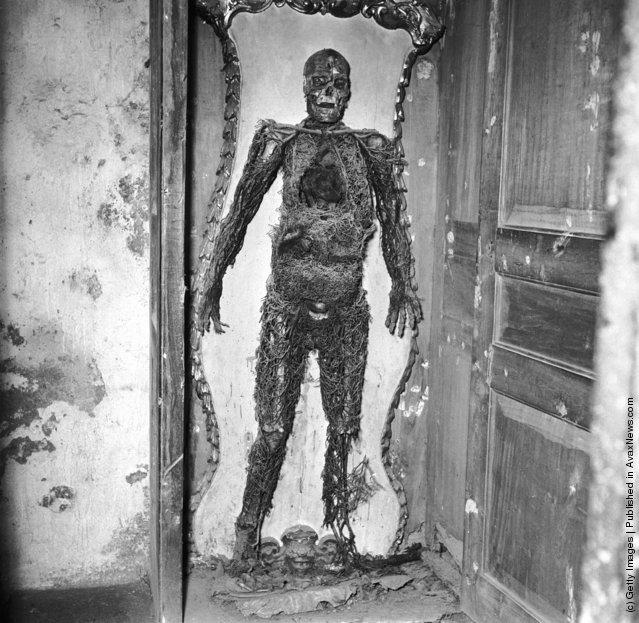 A skeleton in the Capella Sansevero