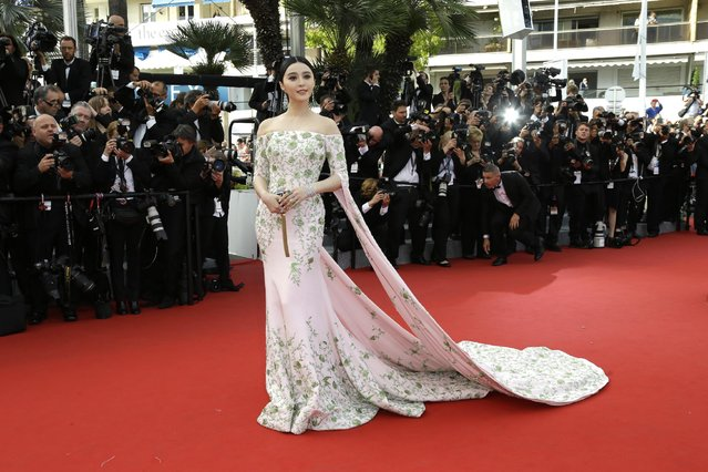 Fan Bingbing arrives for the opening ceremony and the screening of the film La Tete Haute (Standing Tall) at the 68th international film festival, Cannes, southern France, Wednesday, May 13, 2015. (Photo by Joel Ryan/Invision/AP Photo)
