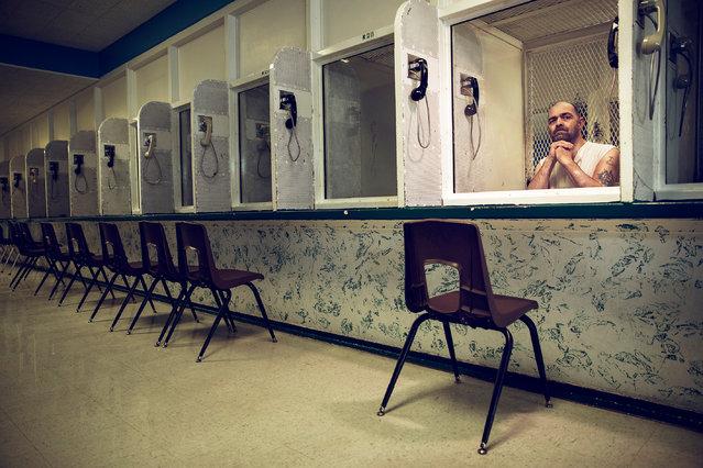 Paul Devoe sits on death row in Livingston, Texas, in March 2017, having shot six people dead in 2007. (Photo by James Breeden/GQ/BPPA)