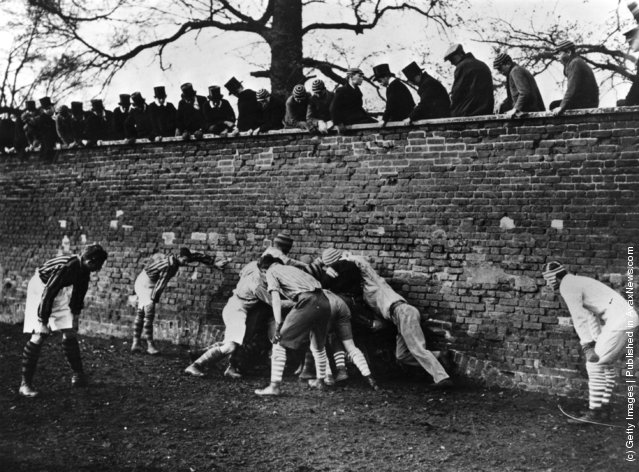 1925: The annual Eton Wall Game in progress on St. Andrews Day