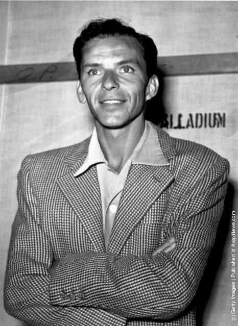 American singer and film star Frank Sinatra, 1950