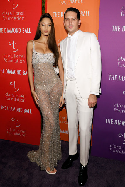 Yasmin Wijnaldum and G-Eazy attend the 5th Annual Diamond Ball benefiting the Clara Lionel Foundation at Cipriani Wall Street on September 12, 2019 in New York City. (Photo by Taylor Hill/WireImage)