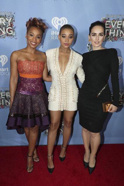 """Anika Noni Rose, Amandla Stenberg and Ana de la Reguera seen at Warner Bros. Pictures and Metro-Goldwyn-Mayer Pictures """"Everything, Everything"""" Special VIP Screening on Saturday, May 6, 2017, in Los Angeles. (Photo by Eric Charbonneau/Invision for Warner Bros./AP Images)"""