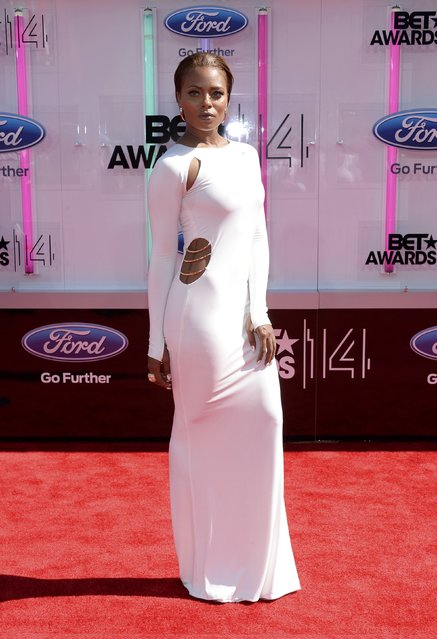 Eva Marcille arrives at the 2014 BET Awards in Los Angeles, California June 29, 2014. (Photo by Kevork Djansezian/Reuters)