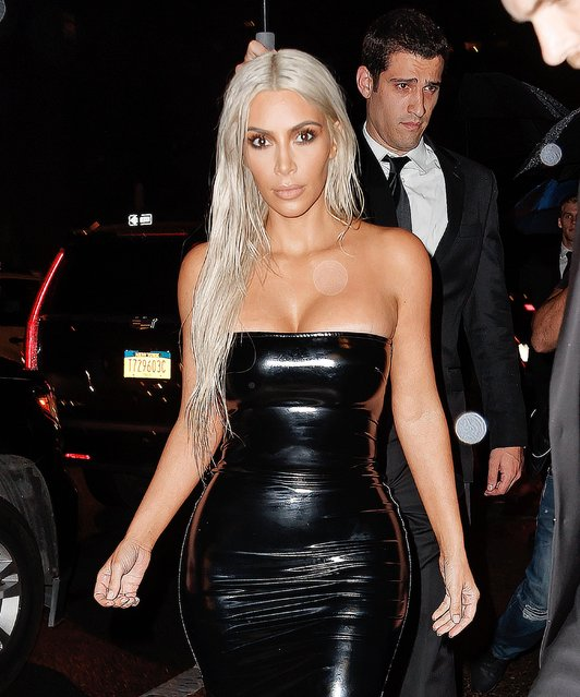 Kim Kardashian attends the Tom Ford Spring/Summer 2018 Runway Show at Park Avenue Armory on September 6, 2017 in New York City. (Photo by Splash News and Pictures)