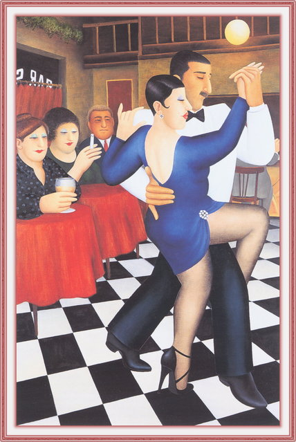 Tango in Bar Sur. Artwork by Beryl Cook