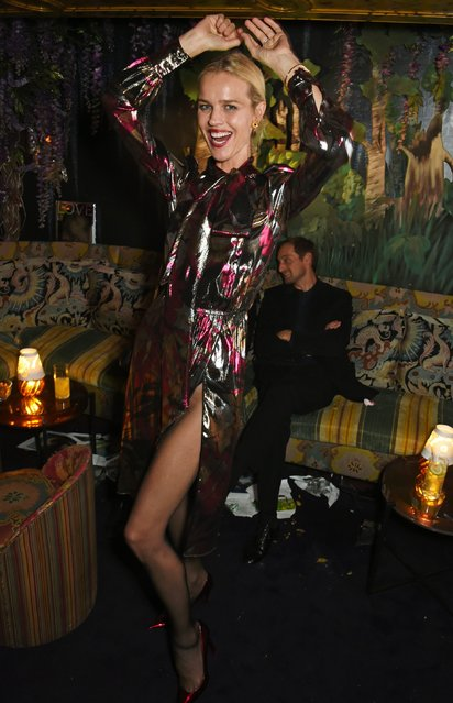 Eva Herzigova attends the LOVE Magazine and Marc Jacobs LFW Party to celebrate LOVE 16.5 collector's issue of LOVE and Berlin 1989 at Loulou's on September 19, 2016 in London, England. (Photo by David M. Benett/Dave Benett/Getty Images for LOVE/CONDE NAST)