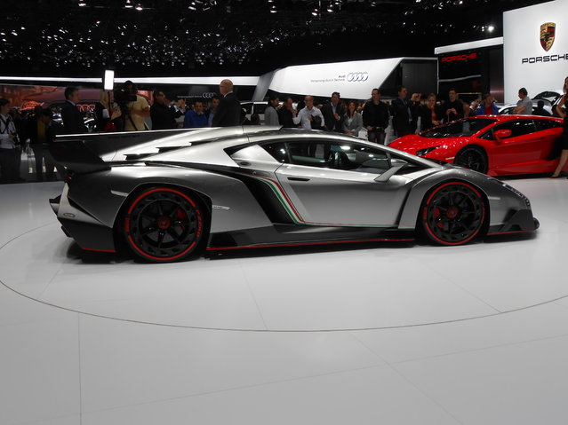 A Lamborghini Venenos on display at the Geneva Motor Show. (Photo by Luis Fernando Ramos/G1)
